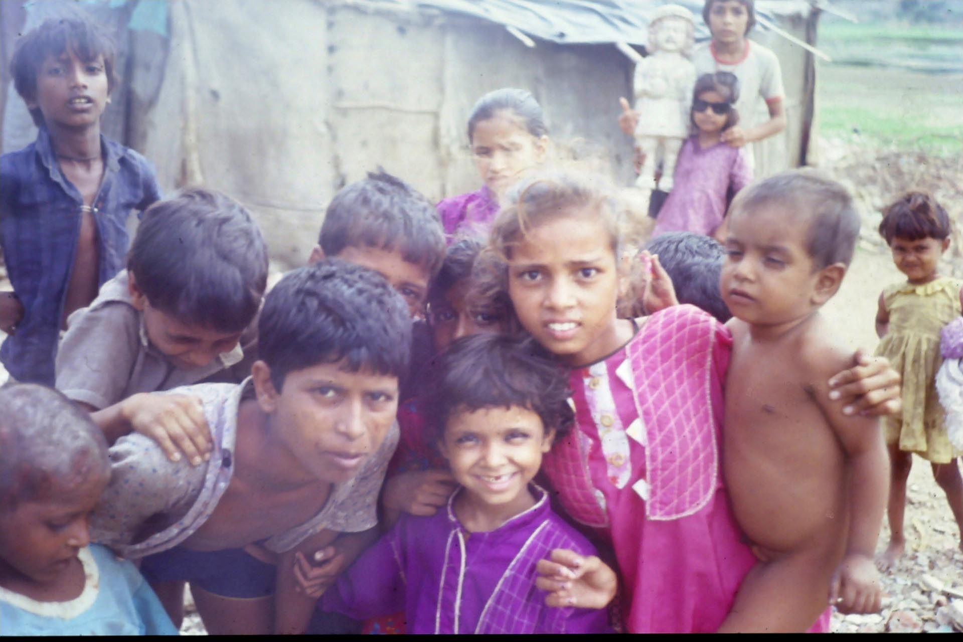 Children, Slum at Surat 1990
